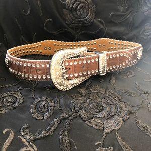 Nocona Faux Crocodile girls belt